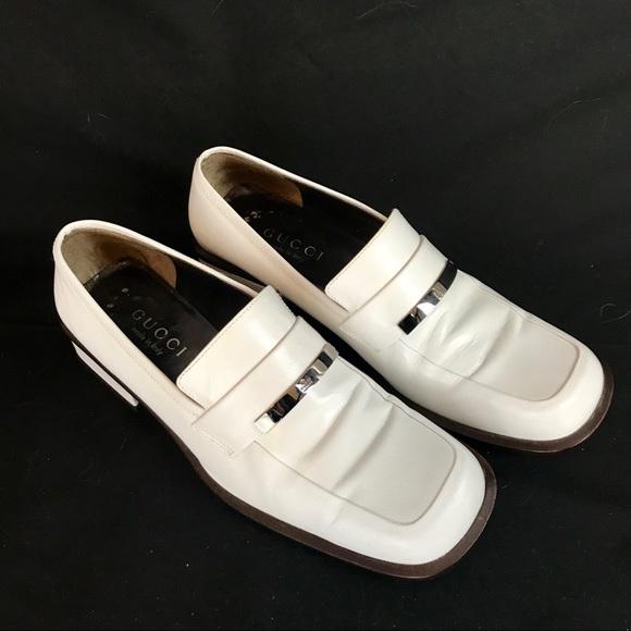Gucci Shoes - EUC Classic White Gucci Loafers